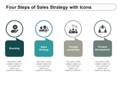 Four Steps Of Sales Strategy With Icons Ppt Powerpoint Presentation Themes