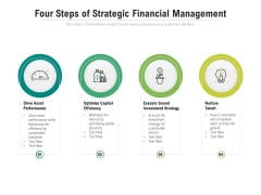 Four Steps Of Strategic Financial Management Ppt PowerPoint Presentation Infographic Template Graphic Images