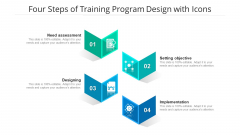 Four Steps Of Training Program Design With Icons Ppt PowerPoint Presentation Gallery Guide PDF