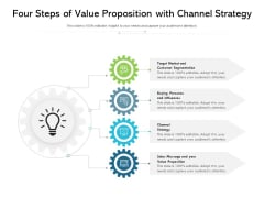 Four Steps Of Value Proposition With Channel Strategy Ppt PowerPoint Presentation File Pictures PDF