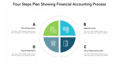 Four Steps Plan Showing Financial Accounting Process Ppt PowerPoint Presentation Gallery Background PDF