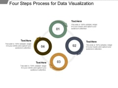 Four Steps Process For Data Visualization Ppt PowerPoint Presentation Infographic Template Inspiration