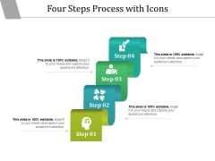 Four Steps Process With Icons Ppt PowerPoint Presentation Show Infographics