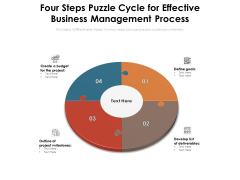 Four Steps Puzzle Cycle For Effective Business Management Process Ppt PowerPoint Presentation Professional Background Image PDF