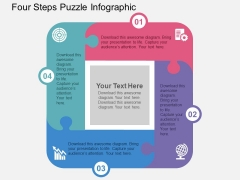 Four Steps Puzzle Infographic Powerpoint Templates
