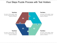 four steps puzzle process with text holders ppt powerpoint presentation portfolio slide
