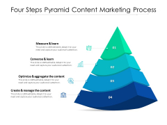 Four Steps Pyramid Content Marketing Process Ppt PowerPoint Presentation Infographic Template Background PDF