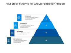 Four Steps Pyramid For Group Formation Process Ppt PowerPoint Presentation Information PDF