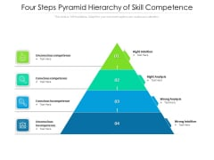 Four Steps Pyramid Hierarchy Of Skill Competence Ppt PowerPoint Presentation Inspiration Summary PDF