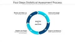 Four Steps Statistical Assessment Process Ppt Infographic Template Templates PDF