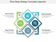 Four Steps Strategy Formulation Approach Ppt Powerpoint Presentation Gallery Maker