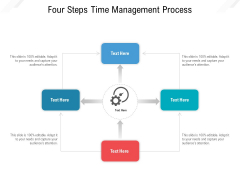 Four Steps Time Management Process Ppt PowerPoint Presentation Gallery Skills PDF