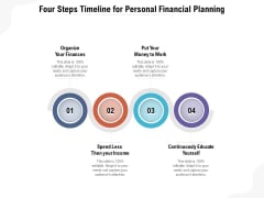 Four Steps Timeline For Personal Financial Planning Ppt PowerPoint Presentation Gallery Tips PDF