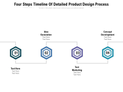 Four Steps Timeline Of Detailed Product Design Process Ppt PowerPoint Presentation Icon Infographics PDF