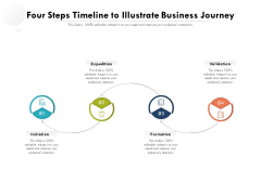 Four Steps Timeline To Illustrate Business Journey Ppt PowerPoint Presentation Gallery Styles PDF
