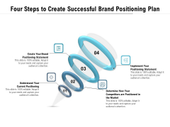Four Steps To Create Successful Brand Positioning Plan Ppt PowerPoint Presentation Model Guidelines PDF