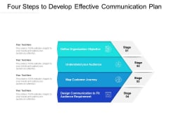 Four Steps To Develop Effective Communication Plan Ppt PowerPoint Presentation Inspiration Gallery PDF