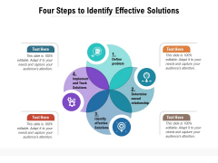 Four Steps To Identify Effective Solutions Ppt PowerPoint Presentation Infographics Example Topics PDF