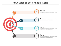 Four Steps To Set Financial Goals Ppt PowerPoint Presentation Ideas Outline