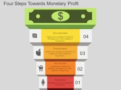 Four Steps Towards Monetary Profit Powerpoint Templates