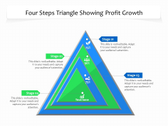 Four Steps Triangle Showing Profit Growth Ppt PowerPoint Presentation File Styles PDF
