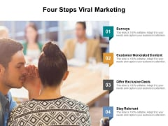 Four Steps Viral Marketing Ppt PowerPoint Presentation Ideas Backgrounds
