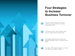 Four Strategies To Increase Business Turnover Ppt PowerPoint Presentation Model Professional