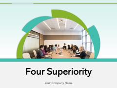 Four Superiority Target Achievement Objectives Ppt PowerPoint Presentation Complete Deck
