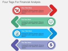 Four Tags For Financial Analysis Powerpoint Template