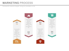 Four Tags For Marketing Planning Process Powerpoint Template