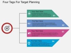 Four Tags For Target Planning Powerpoint Template