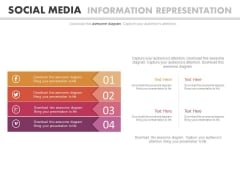 Four Tags With Social Media Icons Powerpoint Template