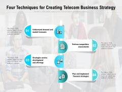 Four Techniques For Creating Telecom Business Strategy Ppt PowerPoint Presentation File Inspiration PDF