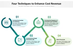 Four Techniques To Enhance Cost Revenue Ppt PowerPoint Presentation File Background PDF