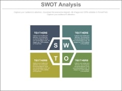 Four Text Boxes For Swot Analysis Powerpoint Slides