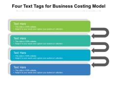 Four Text Tags For Business Costing Model Ppt PowerPoint Presentation Layouts Graphics Tutorials PDF