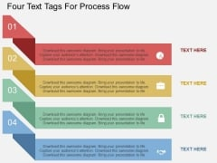 Four Text Tags For Process Flow Powerpoint Template