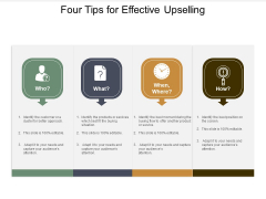 Four Tips For Effective Upselling Ppt PowerPoint Presentation Gallery Introduction