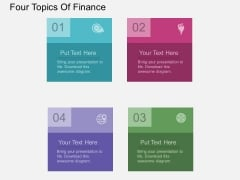 Four Topics Of Finance Powerpoint Template