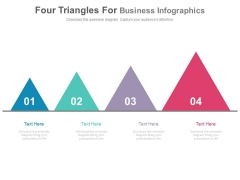 Four Triangles In Progressive Order Powerpoint Slides