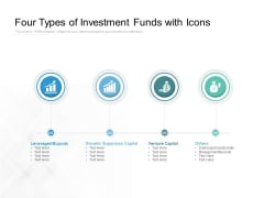 Four Types Of Investment Funds With Icons Ppt PowerPoint Presentation Infographic Template Elements