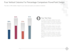 Four Vertical Columns For Percentage Comparison Ppt PowerPoint Presentation Introduction