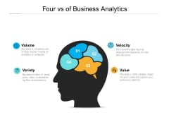 Four Vs Of Business Analytics Ppt PowerPoint Presentation Layouts Rules