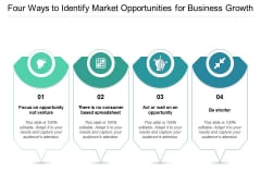 Four Ways To Identify Market Opportunities For Business Growth Ppt PowerPoint Presentation Layouts Templates