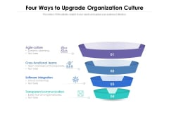 Four Ways To Upgrade Organization Culture Ppt PowerPoint Presentation File Show PDF