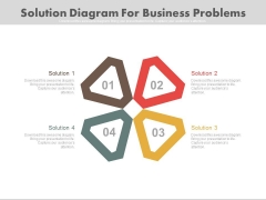 Four Wings Diagram For Process Control Powerpoint Template