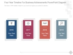Four Year Timeline For Business Achievements Ppt PowerPoint Presentation Professional