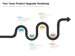 Four Years Product Upgrade Roadmap Ppt PowerPoint Presentation File Background PDF