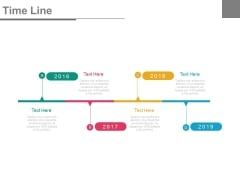 Four Years Tags Timeline Diagram Powerpoint Slides