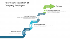 Four Years Transition Of Company Employee Ppt PowerPoint Presentation Icon Graphics Pictures PDF